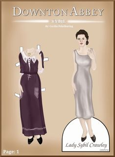 The Dainty Damselfly : Downton Abby Paper Dolls* 1500 free paper dolls international artist Arielle Gabriel's The Internatonal Paper Doll Society for paper doll pals at Pinterest *