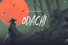 Odachi is a rough looking hand drawn brush free font.