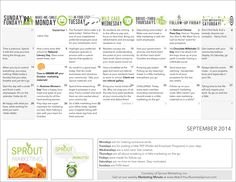 Your October calendar for EVERYTHING outreach marketing, resident retention, and referrals! www.WatchYourBusinessSprout.com.