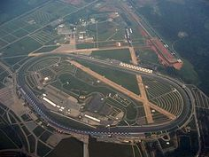 Aerial view of Talladega Superspeedway in 2007. The runways of the defunct ...