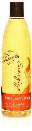 Village Naturals Aromatherapy Energize Foaming Shower Scrub 10oz by Village Naturals Aromatherapy. $5.42. Our special formula will uplift and invigorate your senses giving you a fresh start.. Our unique foaming shower scrub formula will exfoliate and cleanse leaving your skin feeling silky smooth.. Infused with natural essential oils of orange, grapefruit and caffeine.. Infused with natural essential oils of orange, grapefruit and caffeine will uplift and invigorate your senses w...