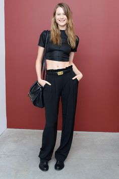blissfully-chic:  Behati Prinsloo at Marciso Rodriguez Bottletop Event  http://afashionlines.tumblr.com/