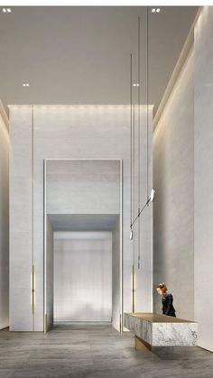 Elevator Lobby Design, Office Lobby, Hotel Lobby, Model Homes, Entrance, Sweet Home, House Design, Interior Design, Space