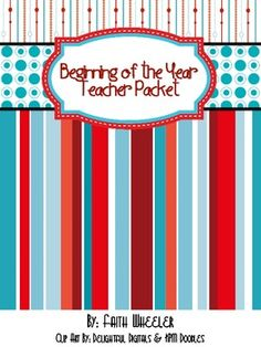 This is a packet of materials that includes a monthly calendar, grade book, lesson plan book, transportation checklist, newsletter template, communication log, website sheet, & labels.