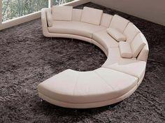 Curved Contemporary Sofa