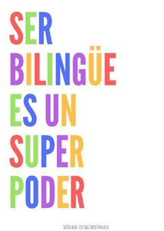 The ability to express yourself in more than one language is a gift AND a superpower! Promote pride in being bilingual with two posters in Spanish and English. These bilingual posters are perfect decor for your Spanish, ELL or dual language classroom. Dual Language Classroom, Bilingual Classroom, Bilingual Education, Free Education, Spanish Word Wall, Spanish Phrases, Spanish Language, Spanish Sayings, Spanish Sentences