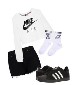 """Great day"" by pyatt184 ❤ liked on Polyvore featuring Boohoo, NIKE, adidas and Yeah Bunny"