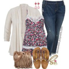 Plus Size Fashion - Spring Casual by alexawebb on Polyvore outfit, plus size fashion for women @alexandrawebb #alexawebb #plussizeoutfitsforsummer