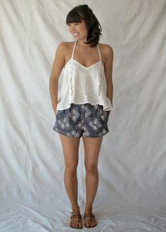 Patrón gratis: shorts de Burda