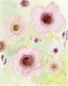 Watercolor Illustration Art Painting Print by stephanieryanart