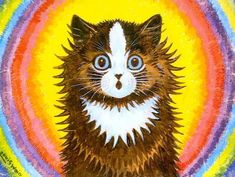 rainbow cat | Louis Wain