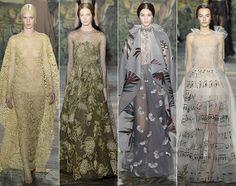 FORTRYLLENDE: Valentinos couture-visning tok publikum med til en svunnen tid. Foto: Getty Images