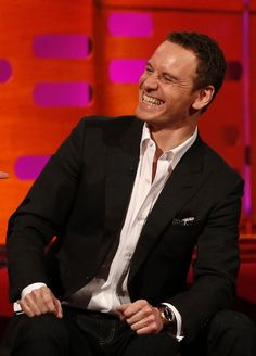 """""""When Michael Fassbender smiles, the world smiles"""" Best quote ever!"""