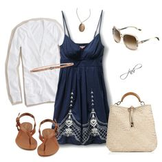 Summer Dress, created by jill-hammel on Polyvore