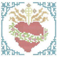 Brilliant Cross Stitch Embroidery Tips Ideas. Mesmerizing Cross Stitch Embroidery Tips Ideas. Cross Stitch Angels, Cross Stitch Heart, Cross Stitch Alphabet, Modern Cross Stitch, Religious Cross Stitch Patterns, Cross Patterns, Embroidery Art, Cross Stitch Embroidery, Cross Stitch Tattoo