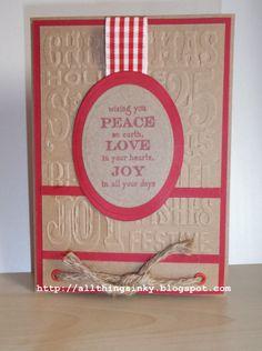 Christmas Card Using TH Embossing Folder.