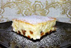 Túrós süti (50 dkg túró + 5 ek. rizsdara + 5 tojás + tejföl)