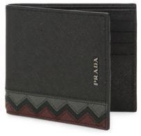 Prada Chevron Leather Bi-Fold Wallet Leather Bifold Wallet, Action Figures, Chevron, Wallets, Prada, Purses