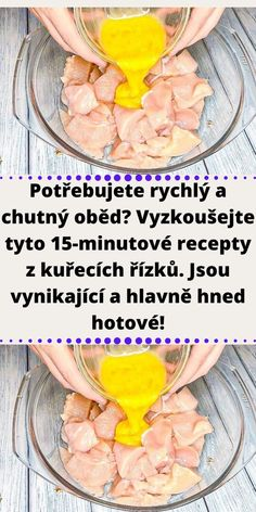 Quick Recipes, Cooking Recipes, Healthy Recipes, Healthy Food, Czech Recipes, Cooking Light, Fruit Smoothies, Poultry, Chicken Recipes