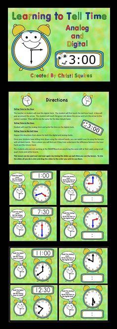 Telling Time Smartboard Game  Smartboard    Telling