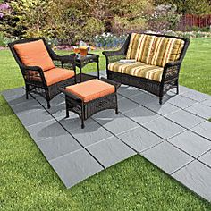 Create An Instant Patio On Any Grass, Dirt Or Sand Surface!  Ultra Lightweight Tiles Have Spiked Bottoms That Dig Into Ground For  Stability. Installu2026