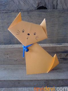 Quick and easy to make. You can teach this model to kids. You will need: – origami papers (2 sheets) – glue Instruction: just follow the diagrams