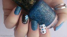 """Résultat de recherche d'images pour """"nail art blue"""""""