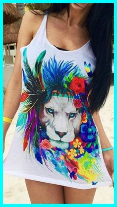 We started out with a super plush lightweight tank and added 100% hand-drawn art that pops! It's a must-have for your Spring wardrobe!