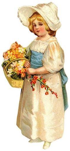 Vintage Floral Label Art Print Card – Vintage Images Download