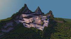 Modern Mansion - Cliff Side Escape Minecraft 4