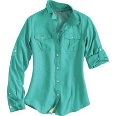 The cool-to-the-touch women's Armachillo Long Sleeve Solid Shirt cools your skin with our exclusive Made in the Jade infused fabric. From Duluth Trading Company.