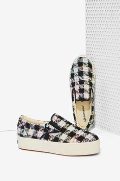 Superga Bouclé Platform Sneaker   Shop Shoes at Nasty Gal!