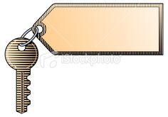 Key and tag Royalty Free Stock Vector Art Illustration