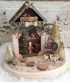 """I'm very excited to offer a kit for the Christmas season. """"Believe in the Magic of Christmas"""" is created from some of my fav. Country Christmas, Christmas Home, Vintage Christmas, Xmas, Christmas Vignette, Whimsical Christmas, Christmas Scenes, All Things Christmas, Christmas Projects"""