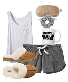 ~Goodnight~ by preppiikygirl on Polyvore featuring Old Navy, UGG Australia, Natasha Couture and Iluminage
