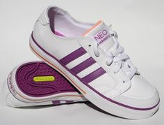 Genuine Lether Adidas Clemente K Woman Trainers Size UK 4 EU 36,5