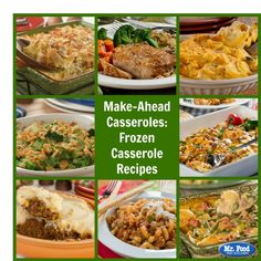 Our collection of the Make-Ahead Casseroles: 10 Frozen Casserole Recipes is just the ticket to a convenient, homemade dinner. Best Potato Casserole Recipe, Casserole To Freeze, Chicken Noodle Casserole, Vegetarian Casserole, Make Ahead Casseroles, Southern Dinner, Baked Pasta Recipes, Food Test, Frozen Meals