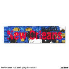 New Orleans Jazz Band Car Bumper Sticker