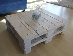Coffee table white / Shabby Chic / vintage / by MadsWoodDesign