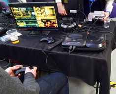 Mega Drive with Mega CD at London Anime and Gaming Con Feb 2017.