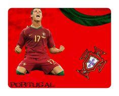Portugal Football Soccer Mouse Pad Cristiano Ronaldo