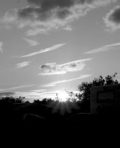 evening sun and clouds