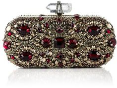 Marchesa ~ Fw Lily Embroidered Clutch