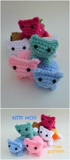 you are good at crocheting then here is a big list of free crochet cat patterns for you!Kitty Mod Free Cat Pattern