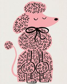 Cute poodle illustration by Lisa Jones Studio Puppy Obedience Training, Best Dog Training, Art And Illustration, Cute Animal Illustration, Illustration Techniques, Animal Illustrations, Fantasy Character, Positive Dog Training, Animals