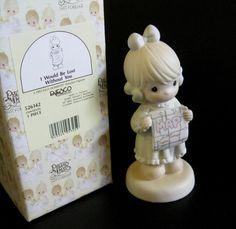 I Would Be Lost Without You, Precious Moments porcelain bisque figurine measures 5 and 1/2 inches tall. Model number 526142, the figurine is in mint condition and in its original box. Year of issue 1991, UPC: 045544053259  Many of my items come from estate sales and auctions, consequently I
