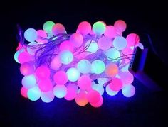 10m 100 Matte Plasma Balls RGB LED Light String Strip Fairy Lights For Wedding Xmas Party Home Decoration 110V/220V EU/US/UK/AU $13.5