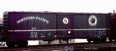 NP, Northern Pacific 50' Single Door Boxcar, 1182 April, 1976 Toronto, Ontario