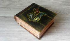 Harry Potter Hogwarts The Coat Of Arms Emblem Box Hand Painted Wooden Box Jewelry box Wizard World Magic Keepsake Box Art Rowling JaN:)Art