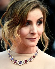 Clotilde Courau, the pricess of Venice, wearing Bulgari. The Cannes Film Festival 2015.